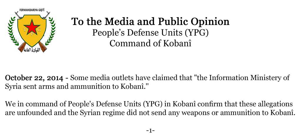 YPG comand 22oct