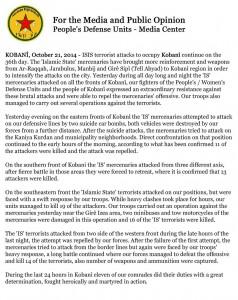 YPG report 21Oct