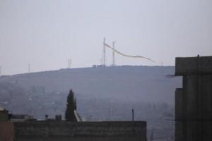 kobane liberada bandera