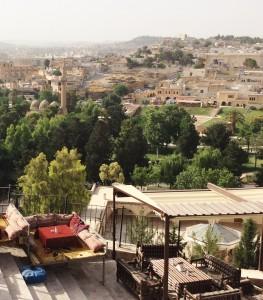 La ciudad de Urfa, al noreste de Kobane en el lado turco de la frontera.