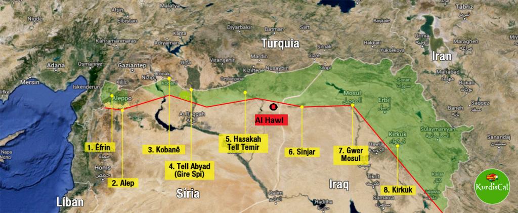 Mapa KurdisCat Al Hawl