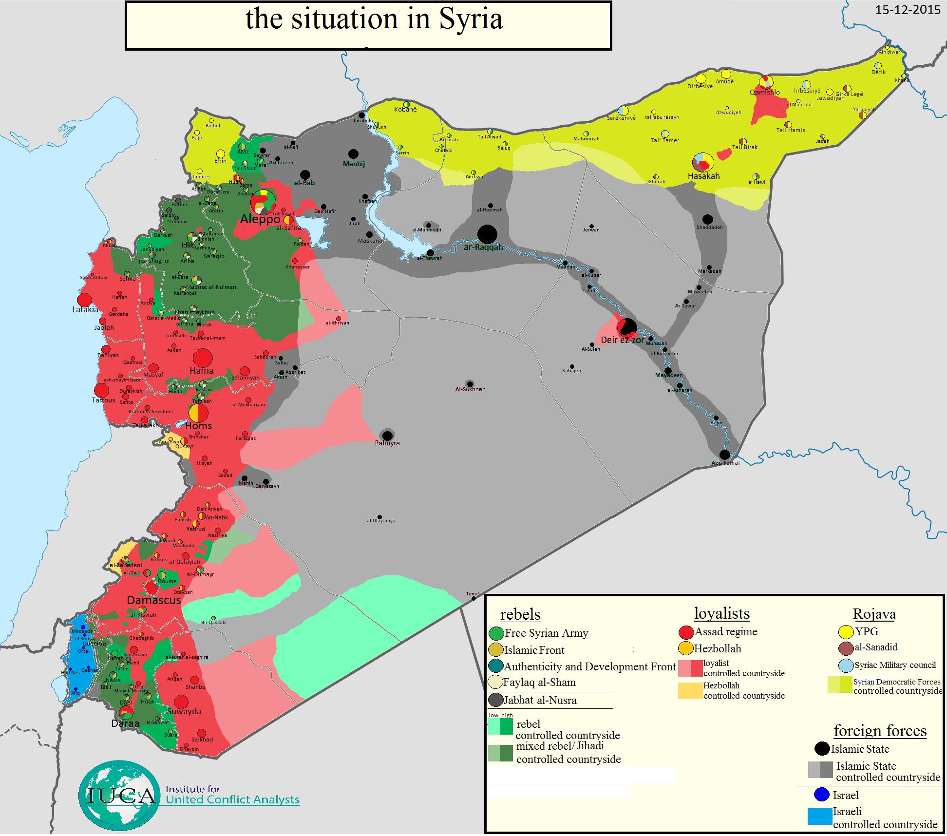 Guerra De Siria Mapa.Mapas De La Situacion De La Guerra En Siria E Iraq Rojava